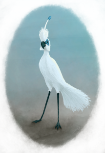 Digital painting for a composite bird design.