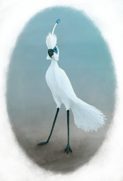 Digital painting for a composite bird design.