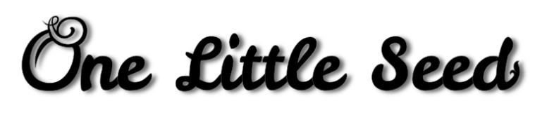 Logo design for paper-craft company One Little Seed.